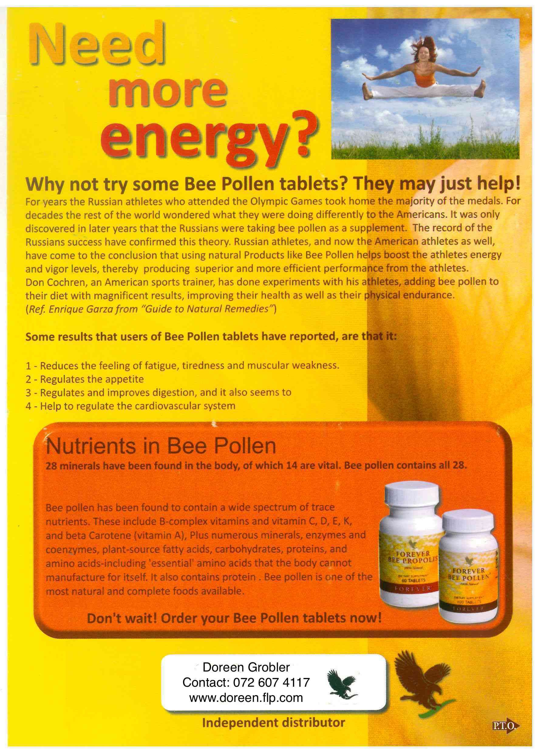 Need more energy? Try some bee pollen    | Aloe vera for