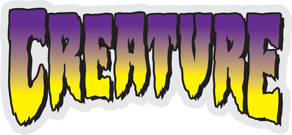 Decal Creature Skateboards Classic Green Logo Sticker
