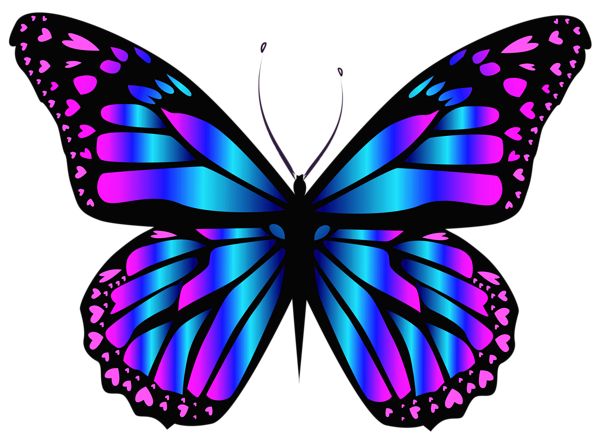 Blue And Purple Butterfly PNG Clipar Image Butterfly