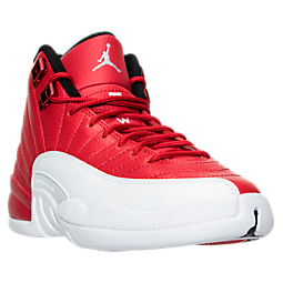 Boys' Grade School Air Jordan Retro 12 Basketball Shoes | Finish ...