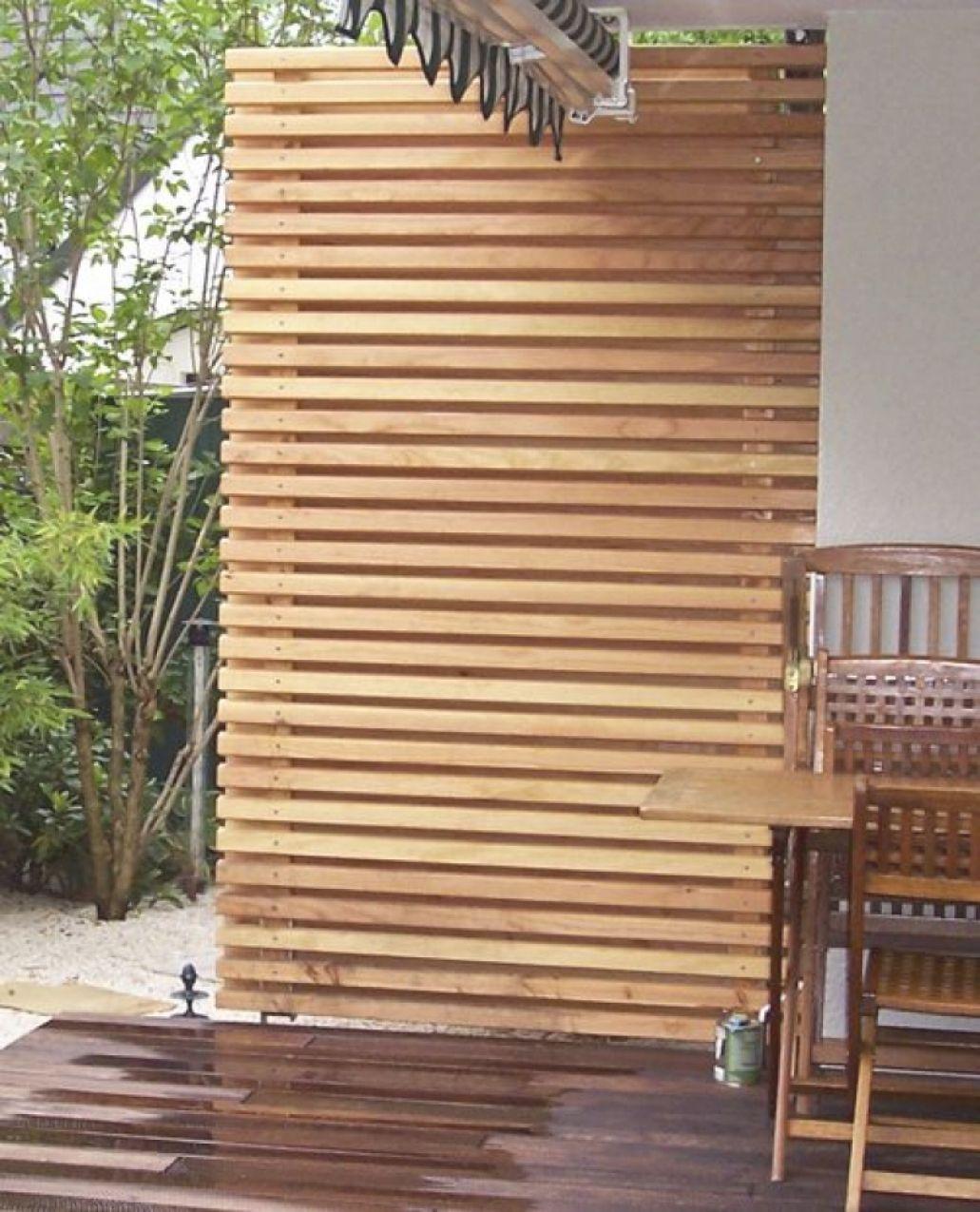 Genial balkon sichtschutz seitlich Sichtschutz holz