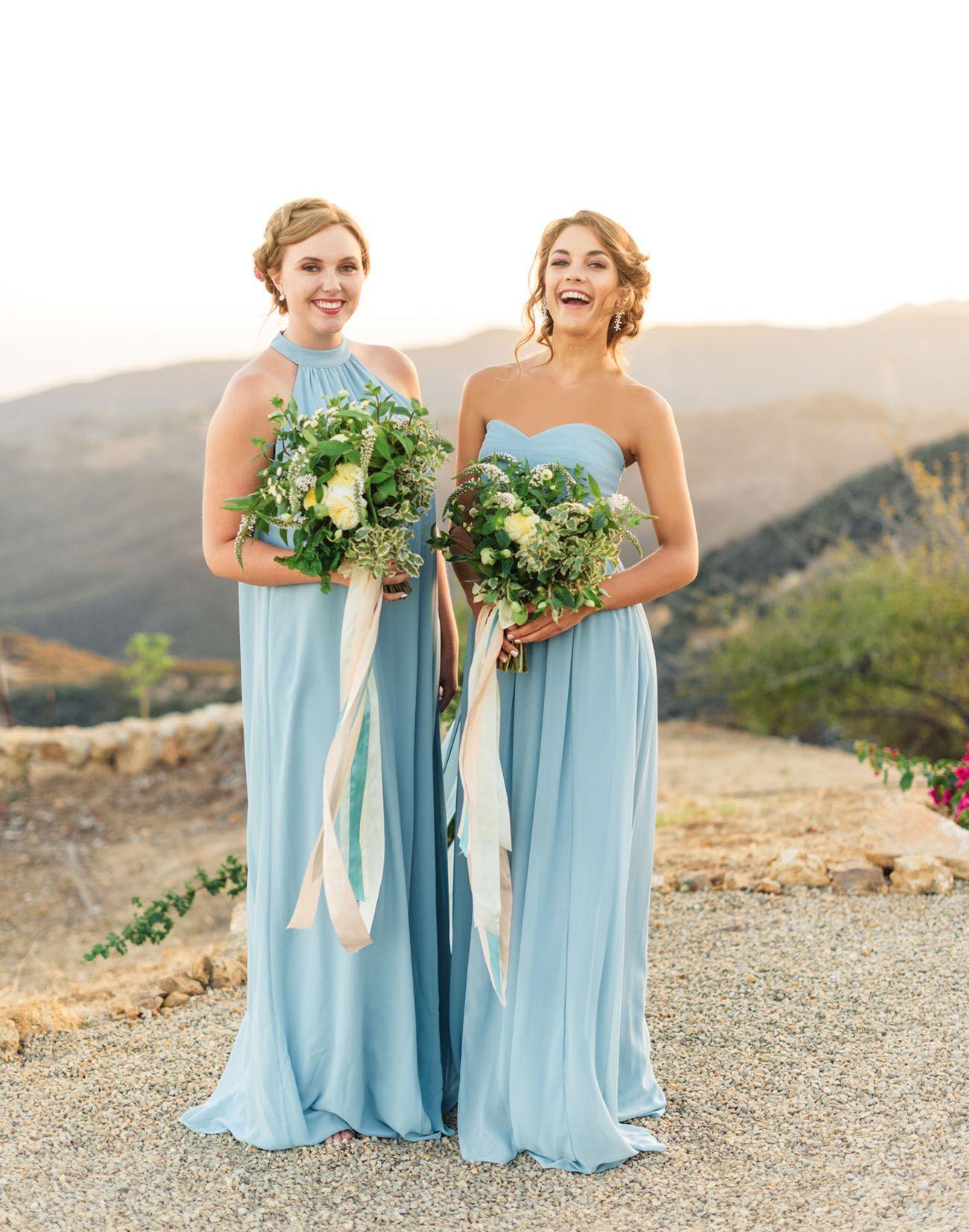 Blue bridesmaid dresses bridesmaid dresses pinterest bridal