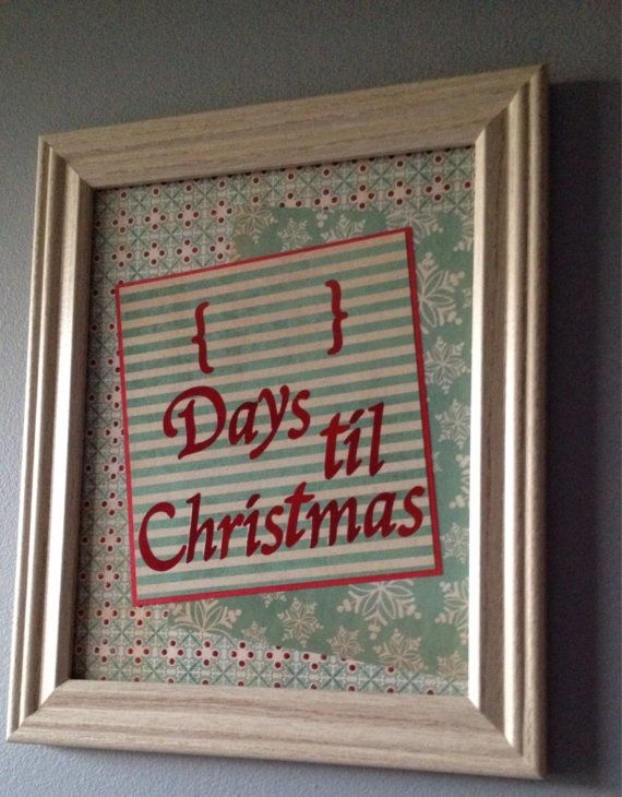This is my favorite!! Just how many days are there until Christmas? Days until Christmas Dry ...