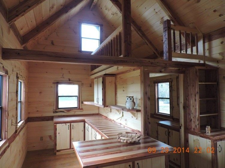 Trophy Amish Log Cabins House Tiny House Interior Tiny House Living