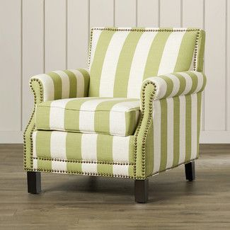 Beachcrest Home Indian Harbour Arm Chair In Green With White