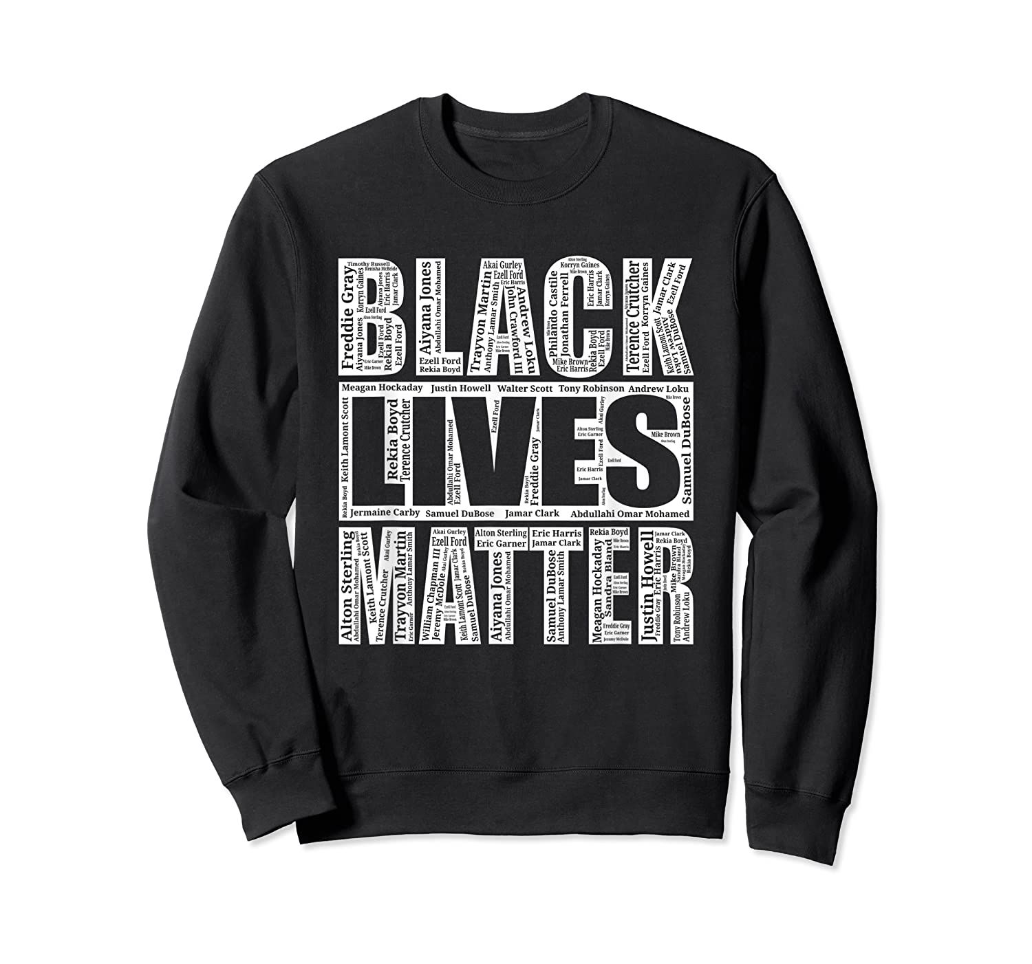 Black Lives Matter With Names Of Victims BLM Shirt