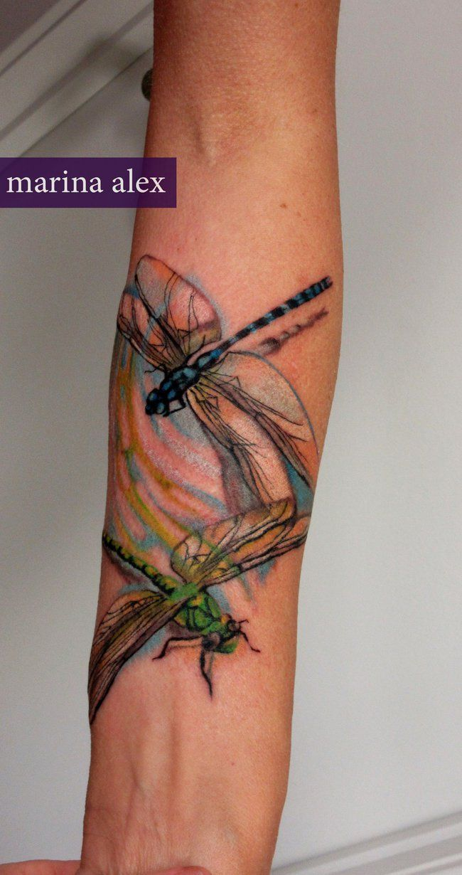 Image result for watercolor dragonfly tattoo tattoos pinterest
