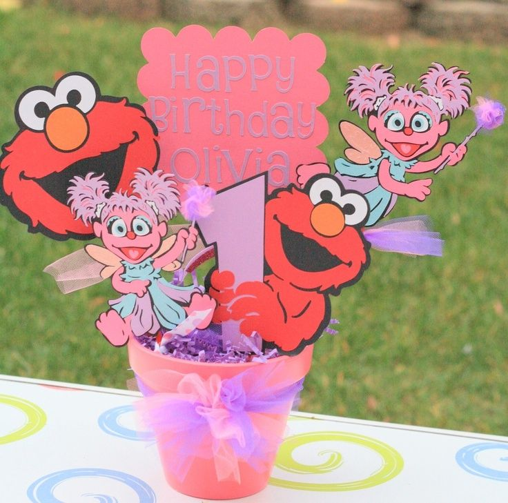 Elmo And Abby Cadabby Fairy Girly Theme Character Party Bucket