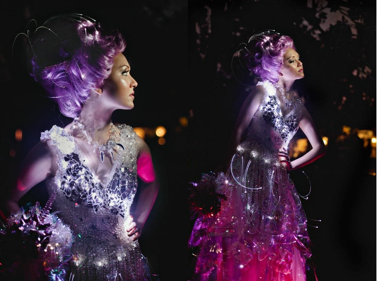 Crystal and Fiber Optic Light Up Wedding Dress by Evey www ...