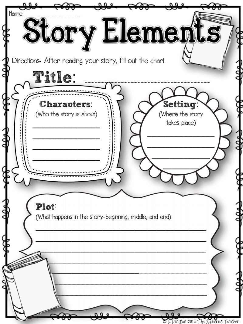 Worksheets Story Elements Worksheets storyelementsrecordingsheet pdf google drive literary elements this is an after reading worksheet about story but can be used to help students plan a of their own has sectio