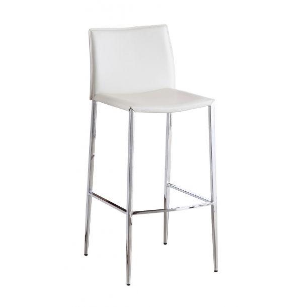 Nakamura Fixed White Barstool White Bar Stools Bar Stools Furniture