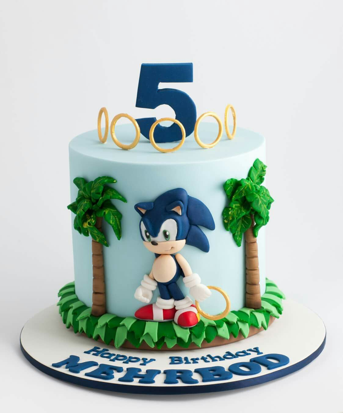 Sonic Cake Children Character Cakes Cupcakes and Cookies