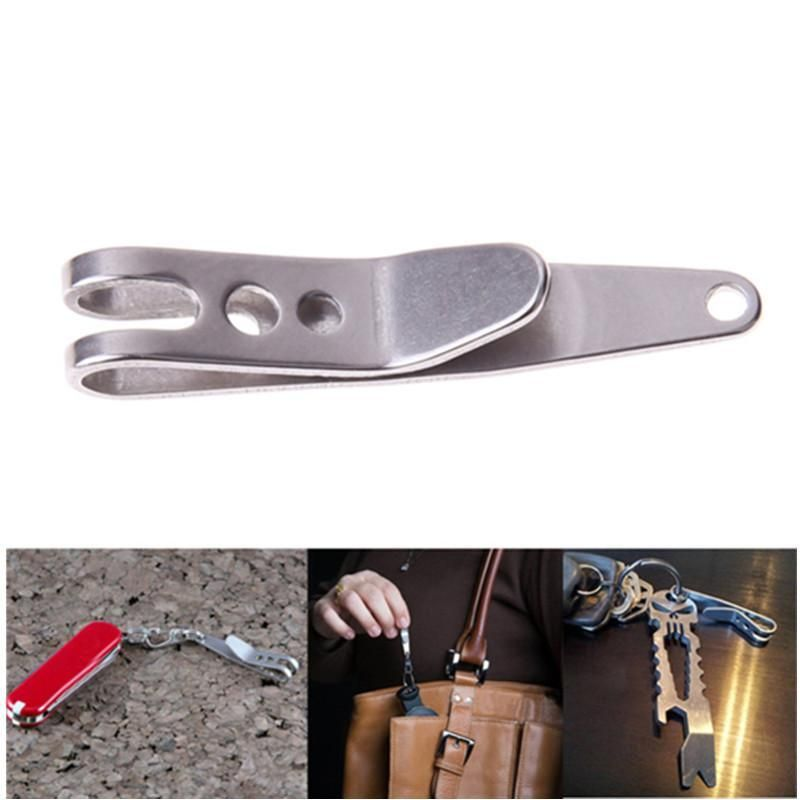 Outdoor Pocket  Tool Steel Suspension clip with buckle keychain Key Rings