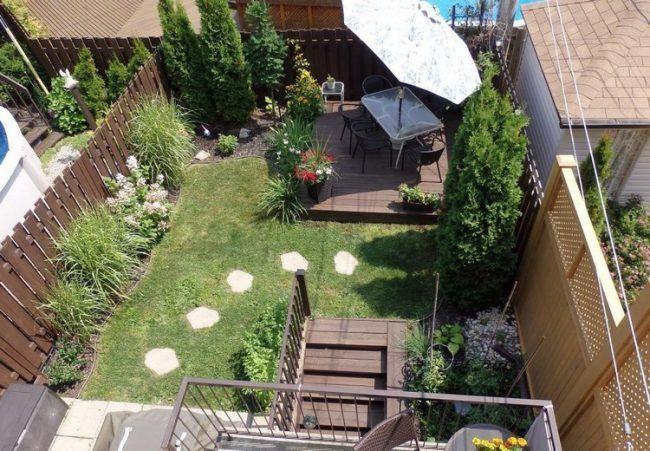 Reihenhausgarten gestalten - Ideen und Tipps für einen rechteckigen ...