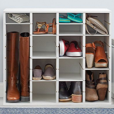 39 Real Simple Reg Shoe Organizer In White Shoe Rack Closet