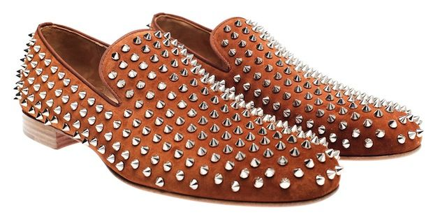 c626e48f3e7 Christian-Louboutin-Rollerboy-Spiked-Brown-Suede-Loafers | SC's ...