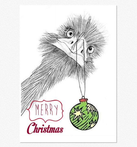 Australian emu christmas greeting card with envelope by janesapple australian emu christmas greeting card with envelope by janesapple m4hsunfo Choice Image
