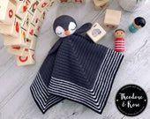 Crochet lovey pattern    Po The Playful Penguin se #Amigurumi #amigurumi_penguin #Blanket #Crochet #Lovey #patt #Pattern #Penguin #Playful #Security #crochetsecurityblanket