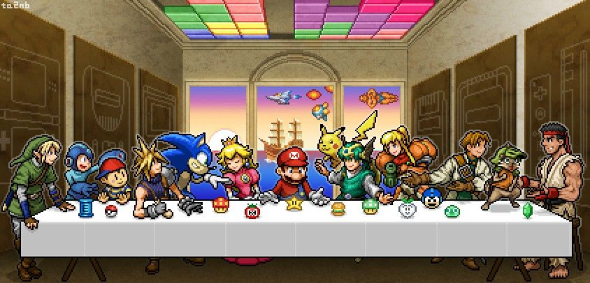 Last Supper Of Video Game Characters A Ultima Ceia Arte Em