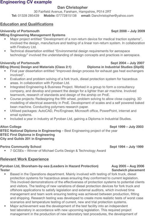 Engineering Cv Template  TemplatesForms    Cv Template