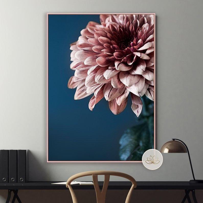 Minimal Flower Print Floral Wall Art Printable Art Digital Etsy In 2020 Floral Wall Art Flower Wall Art Wall Art Canvas Painting