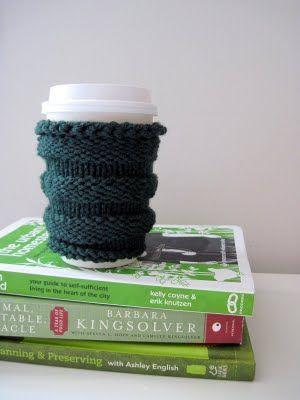 T Free Knitting Pattern Its Green Its A Coffee Sleeve Its
