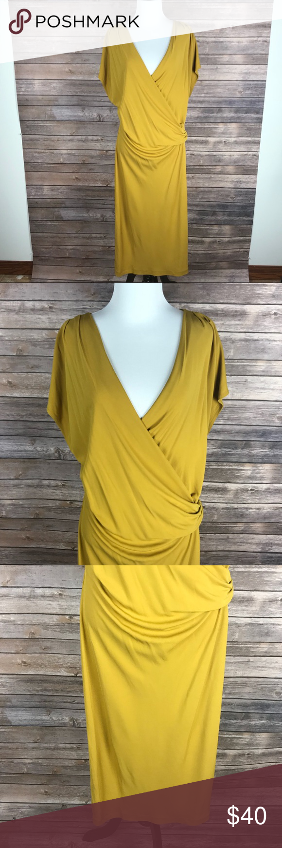 Nwt banana republic mustard yellow long dress l nwt in my