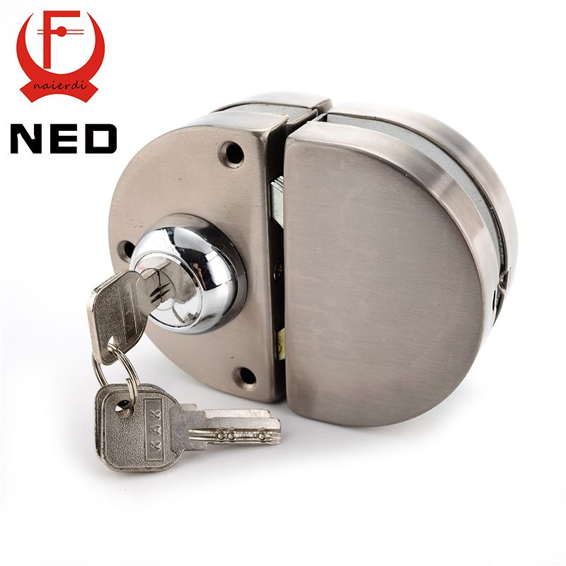 Ned Double Glass Door Lock 304 Stainless Steel Double Open Frameless Door Latches Hasps For 10 12mm Thickness Fur Glass Door Lock Double Glass Doors Glass Door