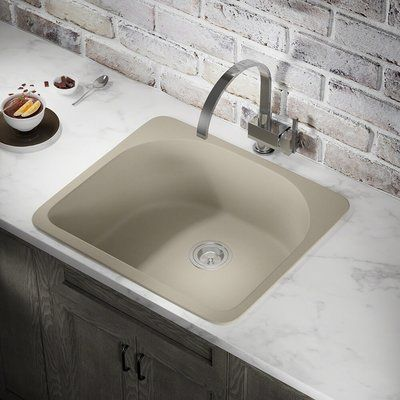 Mrdirect 25 X 22 Drop In Kitchen Sink Finish Slate Sink Composite Sinks