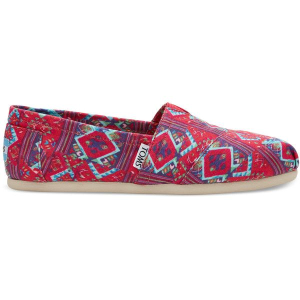 TOMS Guatemala Where We Give Print Womens Classics Slip On Shoes 55