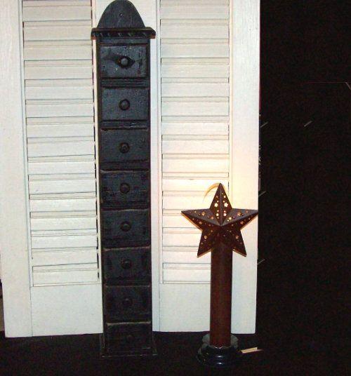 Tall Wooden Spice Cabinet Primitive Decor-Tall Spice box,Spice ...