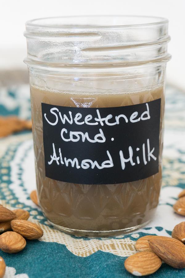 Sweetened Condensed Almond Milk Recipe Homemade