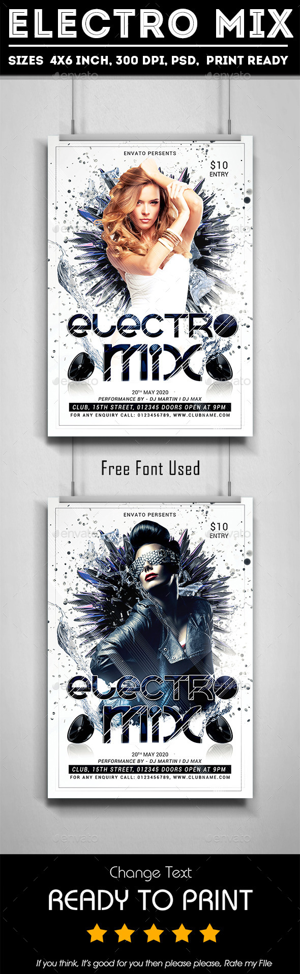 Electro Mix Party | Electro music, Flyer template and Template
