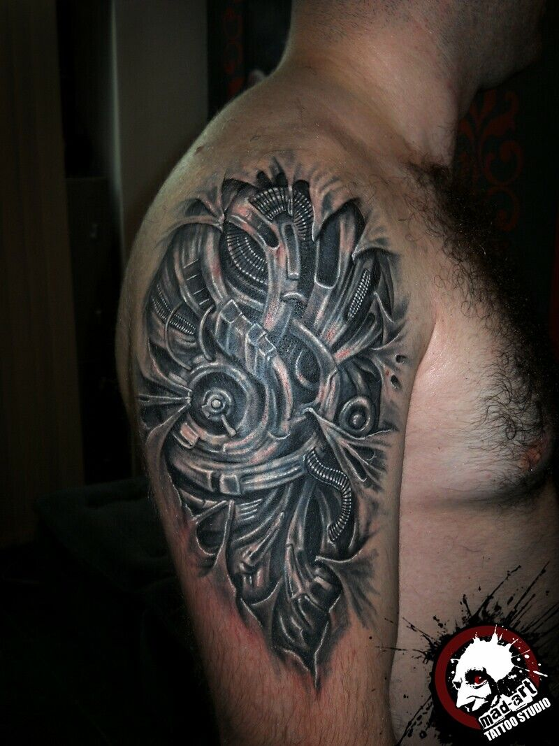 biomechanics tattoo Biomechanical tattoo, Tattoos