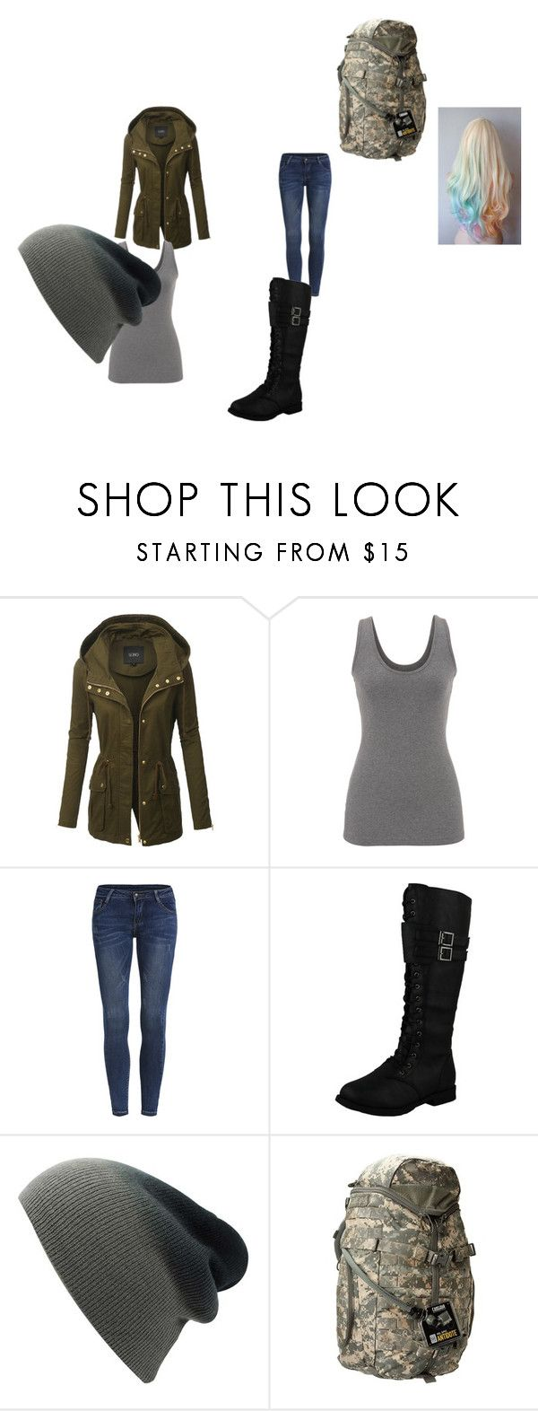 """holl"" by chibitesla on Polyvore featuring LE3NO, maurices, West Blvd and CamelBak"