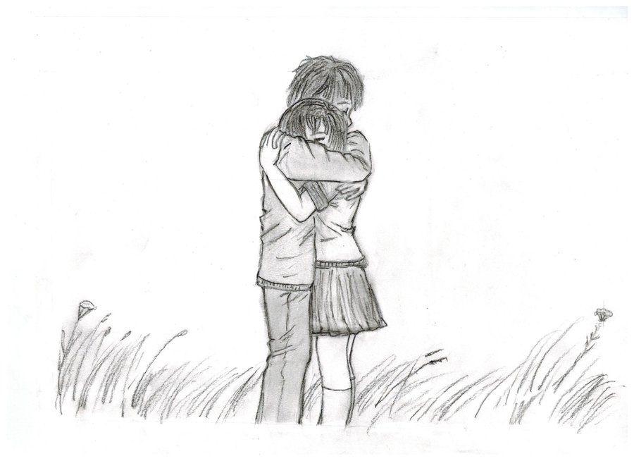 cartoon hugging couple | couple hugging by short-stuff-rita on deviantART