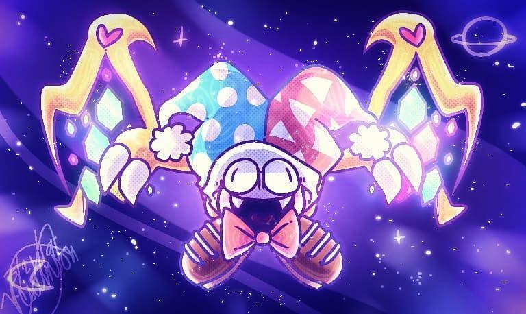 Big Evil Grape Monster Marx Marxkirby Kirby Kirbysuperstar Kirbysuperstarultra Fanart Kirbystarallies Art Digitalart Ibispaint Kirby Art Kirby Evil