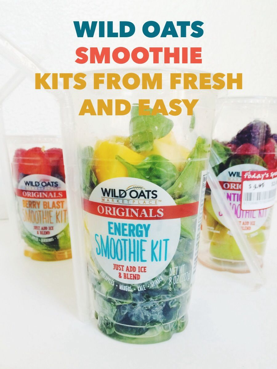 Delicious Wild Oats Smoothie Kits from Fresh and Easy. #ad