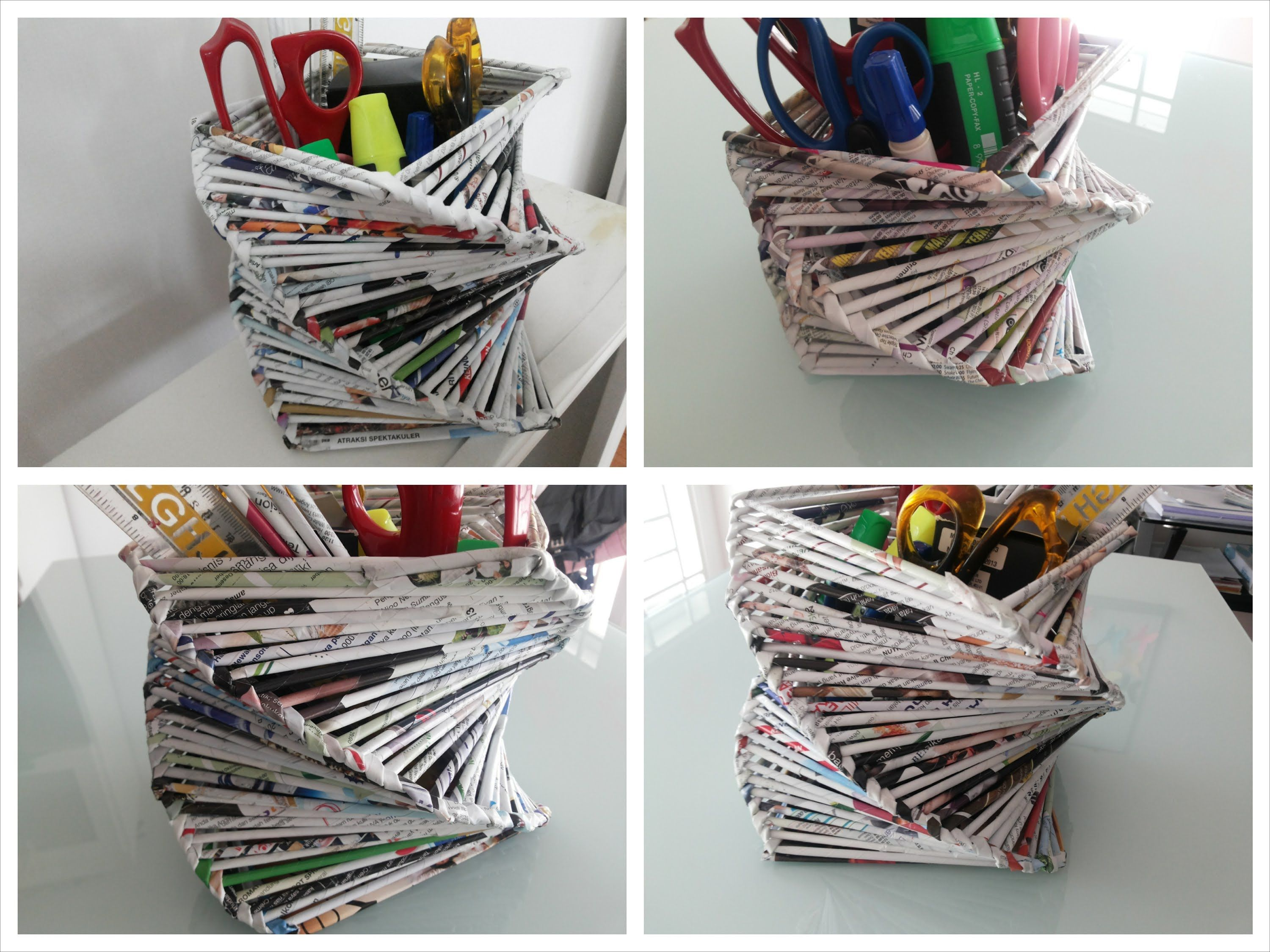 Recycled Home Decor Ideas Part - 27: DIY Room Or Home Decoration / Recycled Old Magazine