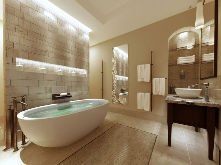 Elegant Our Master Bath Is Spa Themed.