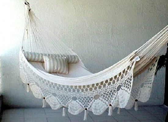 hammocks   hammocks       pretty spaces  hammocks       crochet hammock lounge areas and ps  rh   pinterest co uk