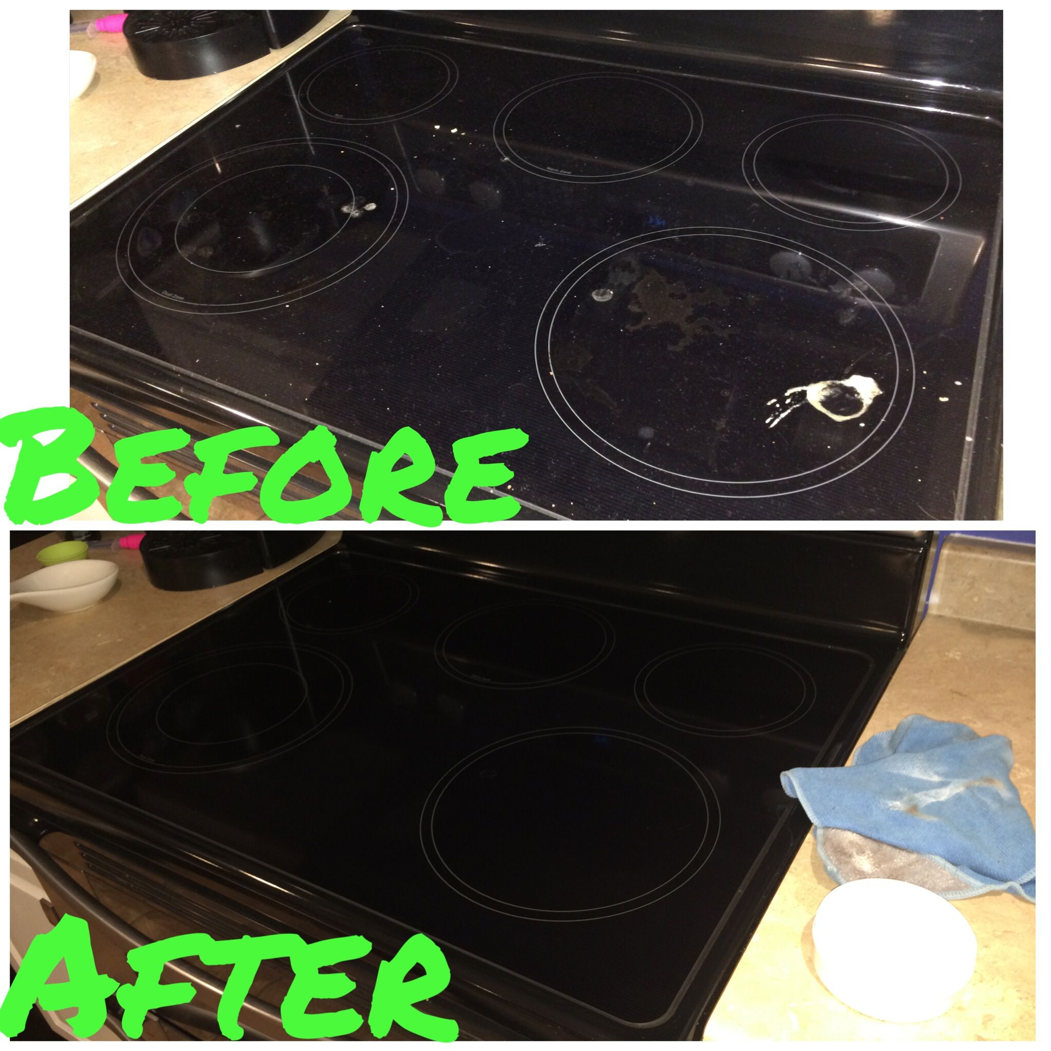 cleaned glass stove top in less than 2 minutes with Norwex scrubby ...
