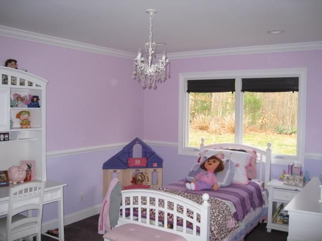 Purples Chair Rail Crown Molding