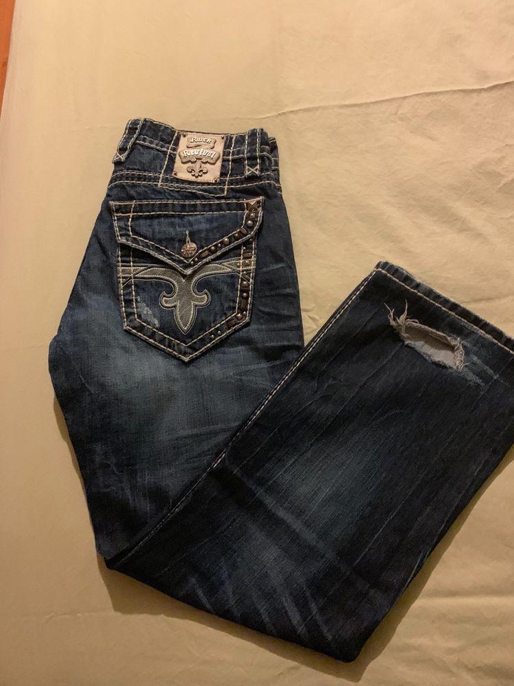824faac1 Mens Rock Revival Jax Boot Cut Jeans Size 31X29 #fashion #clothing #shoes #