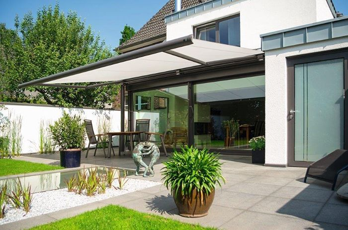6 Fashionable Outdoor Spaces That Beat The Heat Colorado Homes Lifestyles Patio Awning Pergola Patio