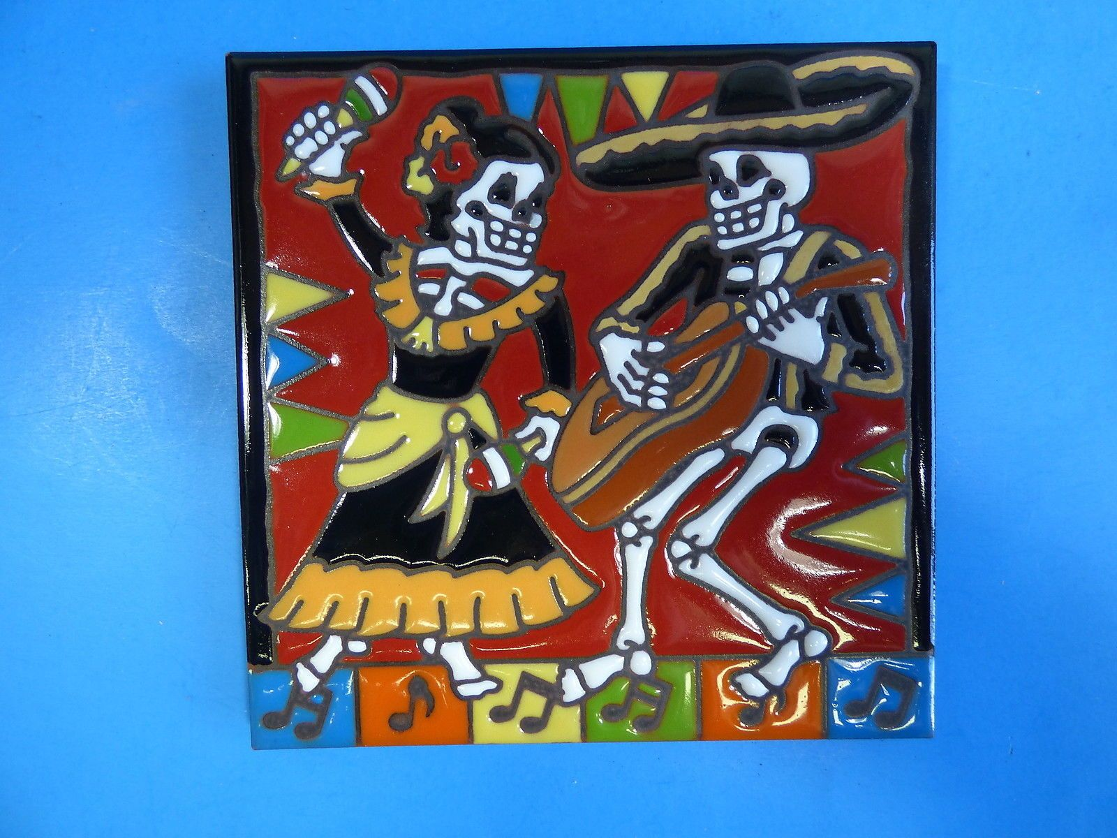 Ceramic art tile 6x6 day of the dead skelton mexican dance couple ceramic art tile 6x6 day of the dead skelton mexican dance couple trivet i8 dailygadgetfo Choice Image
