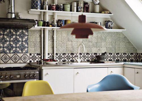 Tiles in muted colors Küche Pinterest Schöne küchen, Küche und - küche fliesenspiegel verkleiden
