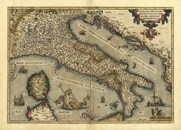 18x24 1570 Orbis Terrarum Africa Historic Vintage Map