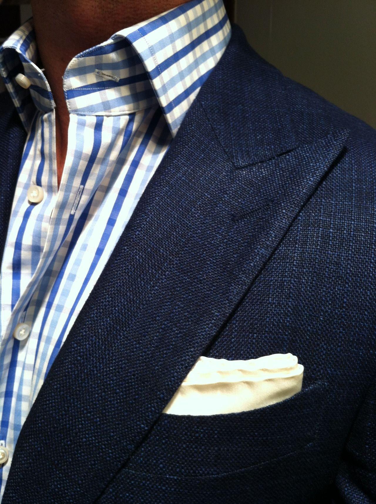 Bold shirt and blazer