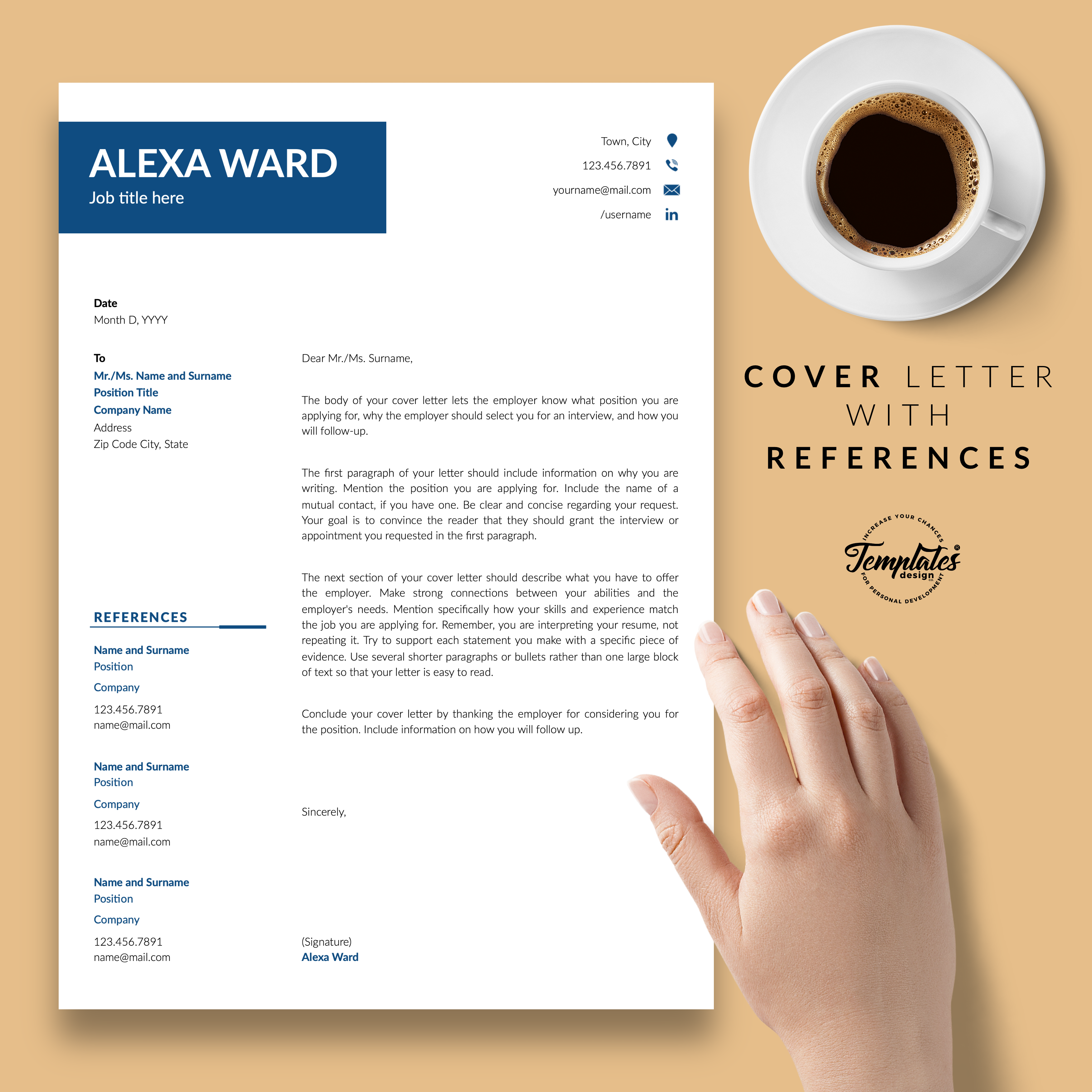 Cover Letter With References Resume Cv Template For